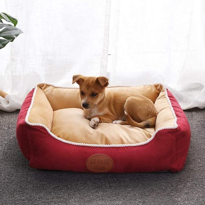 Litières pour chats et chiens, divers petits anima ACI ABRICHER RED + BEIGE CACHEMERRE + Toile antidérapante + Litière de chat de