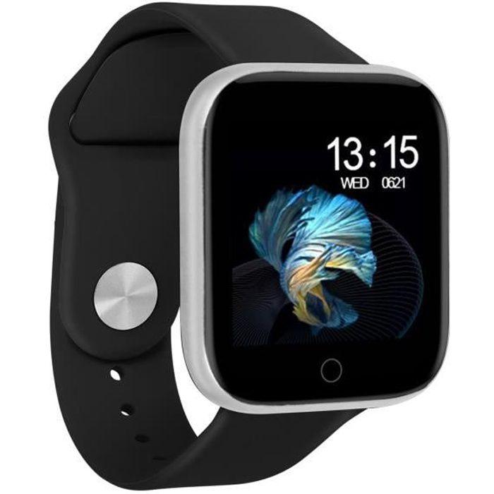 Montre Connectée Bluetooth Android / iOs Tracker d'activité Étanche IP67 Noir