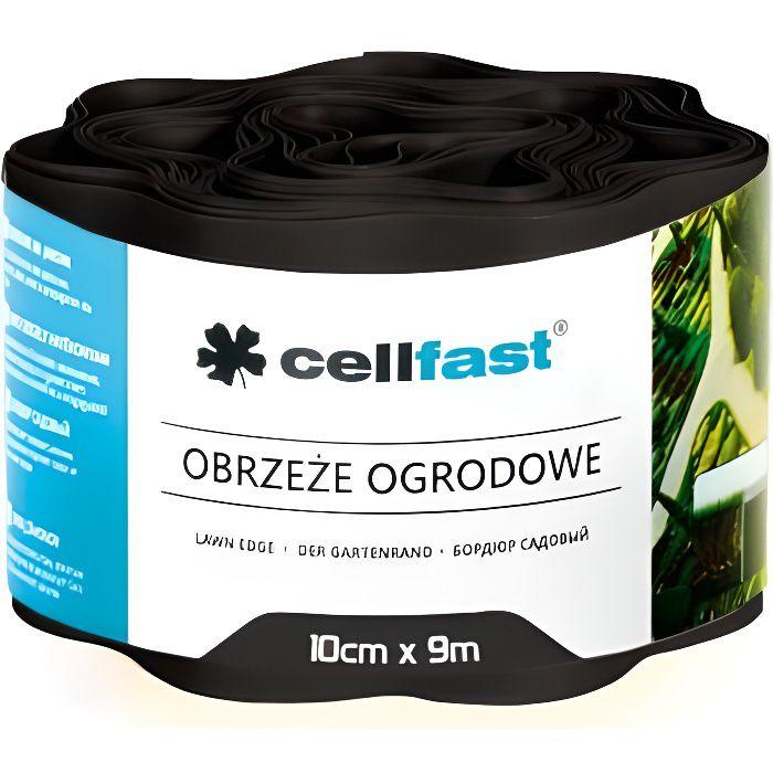 Bordure de pelouse ondulé Cellfast 100mm x 9m en PVC flexible Noir