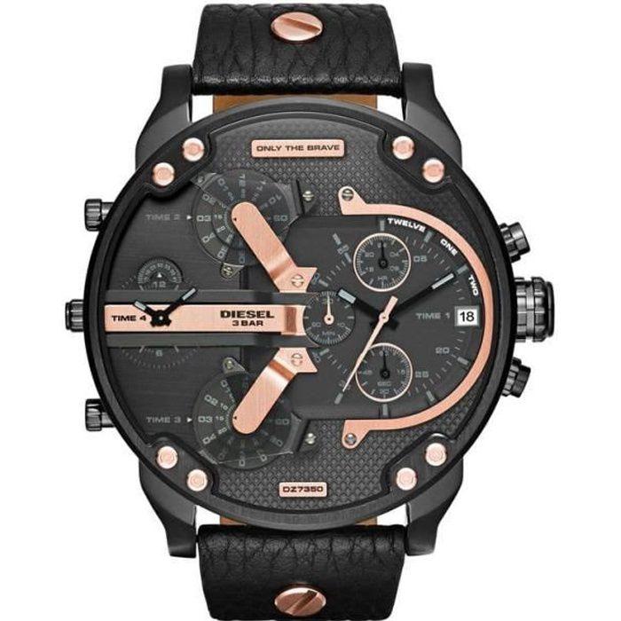 DIESEL - Montre bracelet Homme DZ7350 - Quartz - Analogique - Noir
