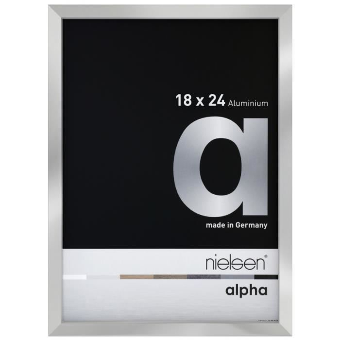 Cadre Nielsen Alpha 18x24 cm argent poli 18 x 24 cm Argenté