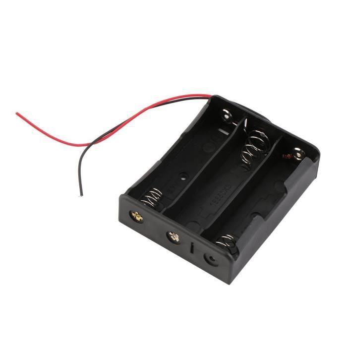 Support de batterie piles de stockage de 3 places 18650 3.7V avec fils conducteurs