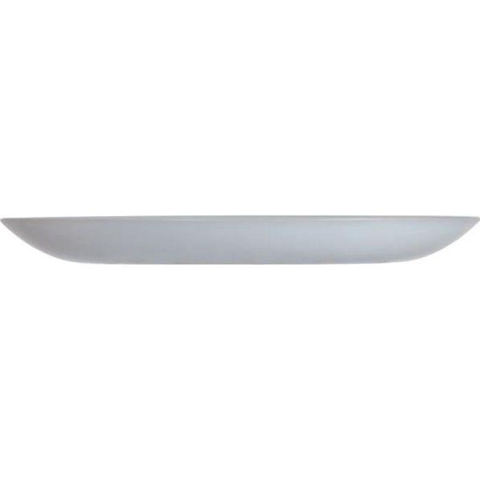 Assiette à dessert en Opale gris 19 cm - Diwali Granit - Luminarc Gris