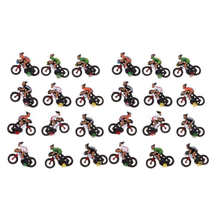 VEHICULE A CONSTRUIRE - ENGIN TERRESTRE A CONSTRUIRE 24 modèles de cyclistes (La couleur de la livraison des articles au hasard)