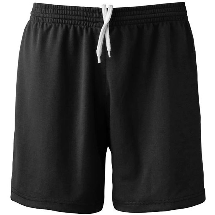 Short Football Polyester Noir