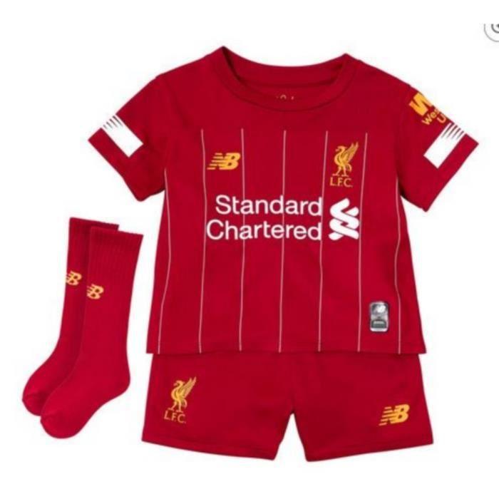 Nouveau Mini-Kit Officiel Enfant New Balance Fc Liverpool Domicile Saison 2019-2020