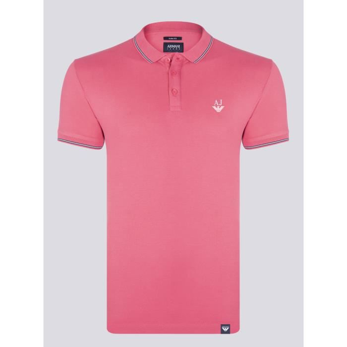 ARMANI JEANS Homme Polo Rose Slim Fit