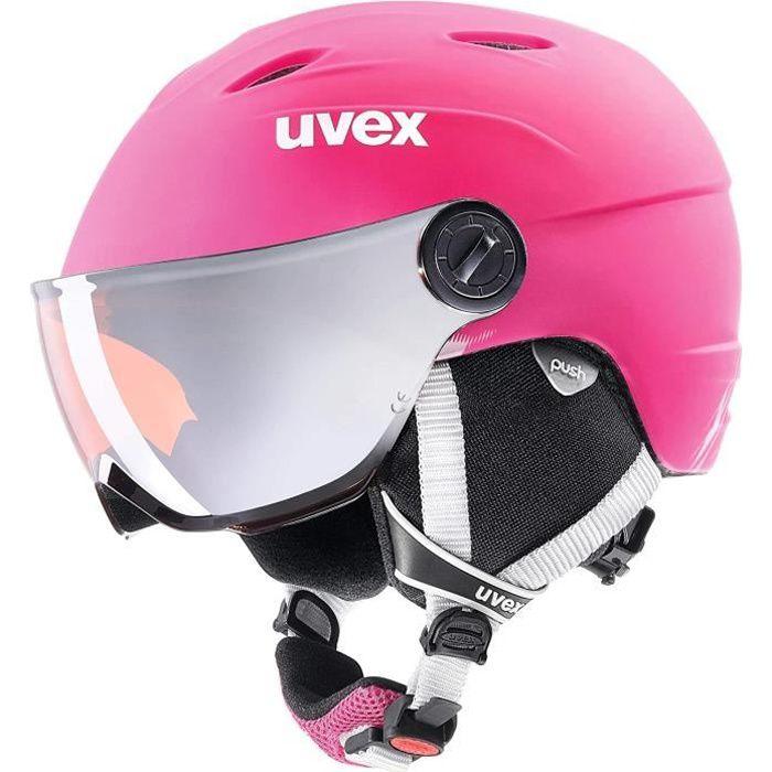 Uvex Visior Pro Casque de Ski pour Enfant Rose Taille 54-56 cm