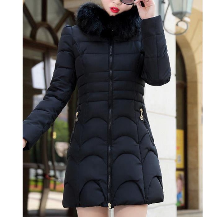 Manteau chaud à capuche pour femmes