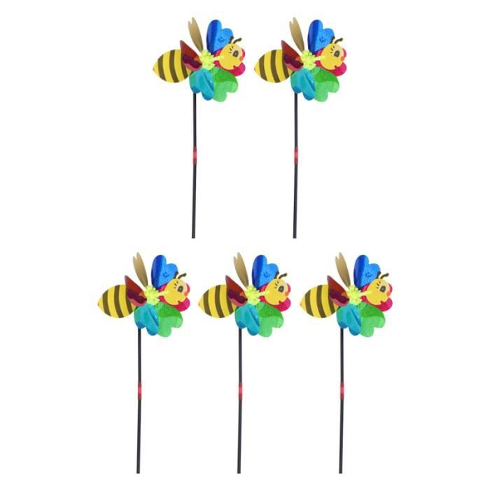 5pcs Creative Coloré Windmill Moulin Jolie Pin roue Spinner moulin a vent - girouette - eolienne jeux de recre - jeux d'exterieur