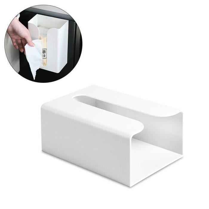 Boîte à mouchoirs Auto-adhésif Montage Mural Distributeur de Papier Hygienique pour Salle de Bain
