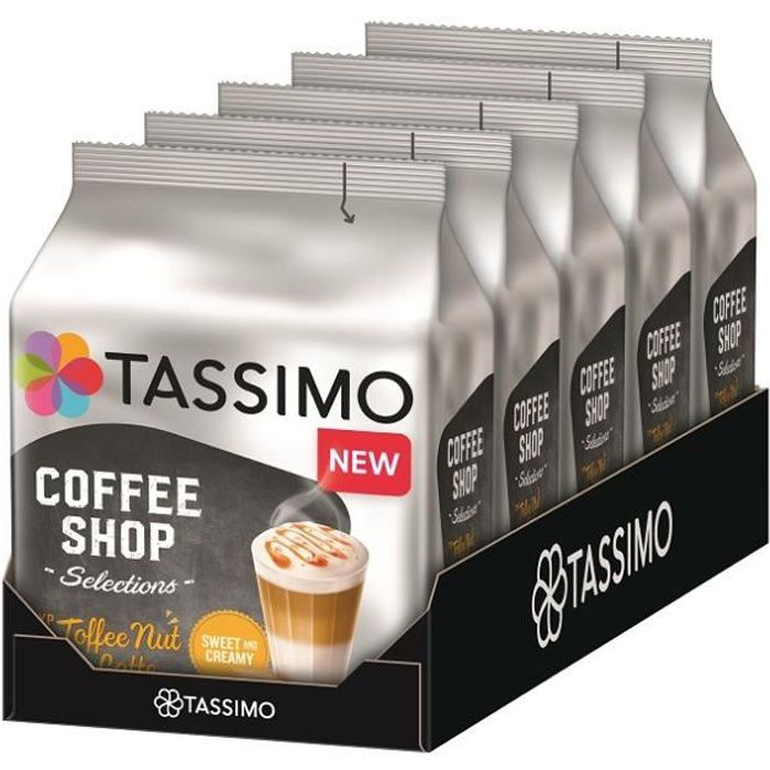 TASSIMO Coffee Shop Selections Toffee Nut Latte 5 x 8 Dosettes