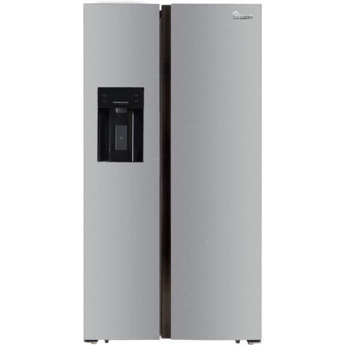 TRIOMPH TSN552NFS - Réfrigérateur Américain - 552 L (383 + 169) - Froid ventilé - L 91.1 x H 178 cm - Silver