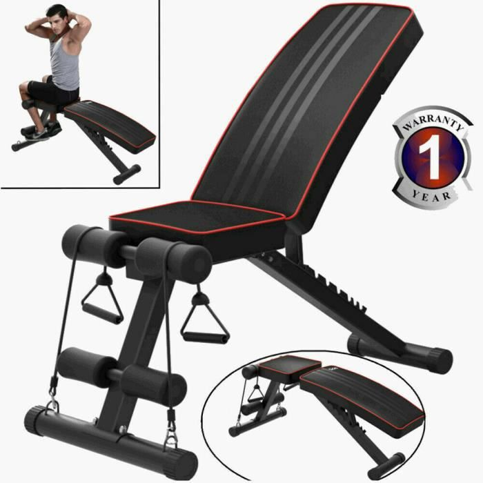 YOLEO Banc de Musculation Multifonction--Fitness/Pliable/Inclinable/Sit-ups