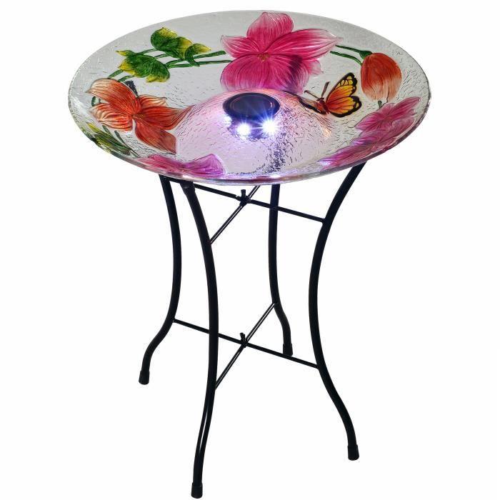 ABREUVOIR Abreuvoir solaire extérieur oiseaux décoration jar