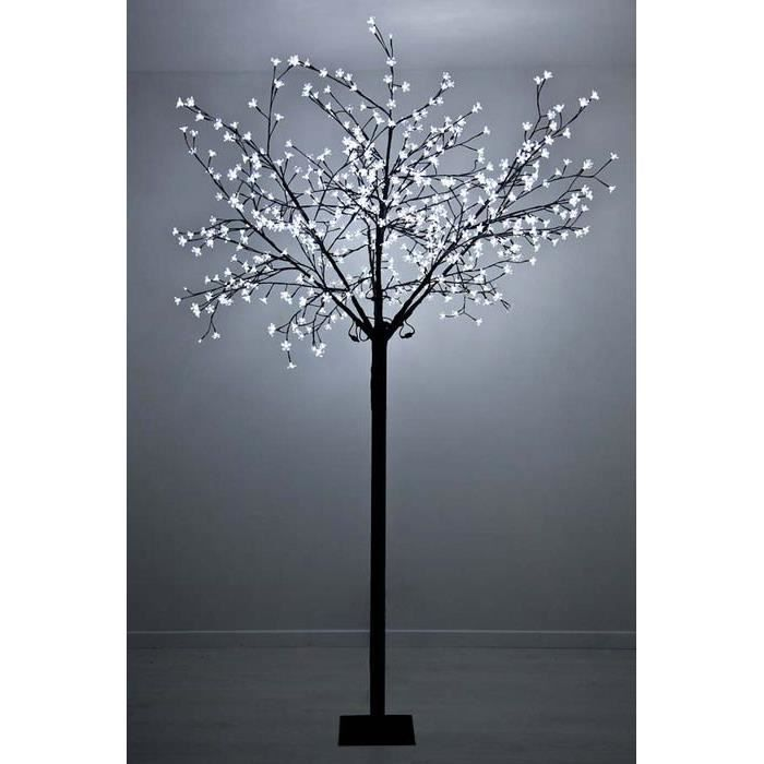 arbre lumineux led blanc froid achat vente arbre lumineux led blanc cdiscount. Black Bedroom Furniture Sets. Home Design Ideas