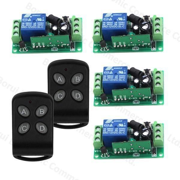 1-CH RF Sans fil Télécommande /& Récepteur 433MHz 12V DC 30m à 100m