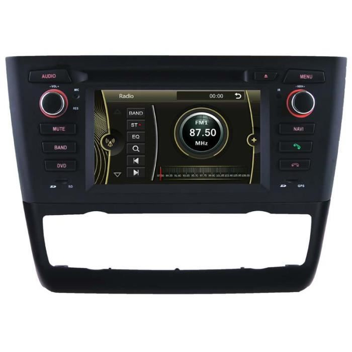 autoradio gps bluetooth pour bmw s rie 1 e81 e82 e87 e88 de 2006 2012 avec climatisation. Black Bedroom Furniture Sets. Home Design Ideas