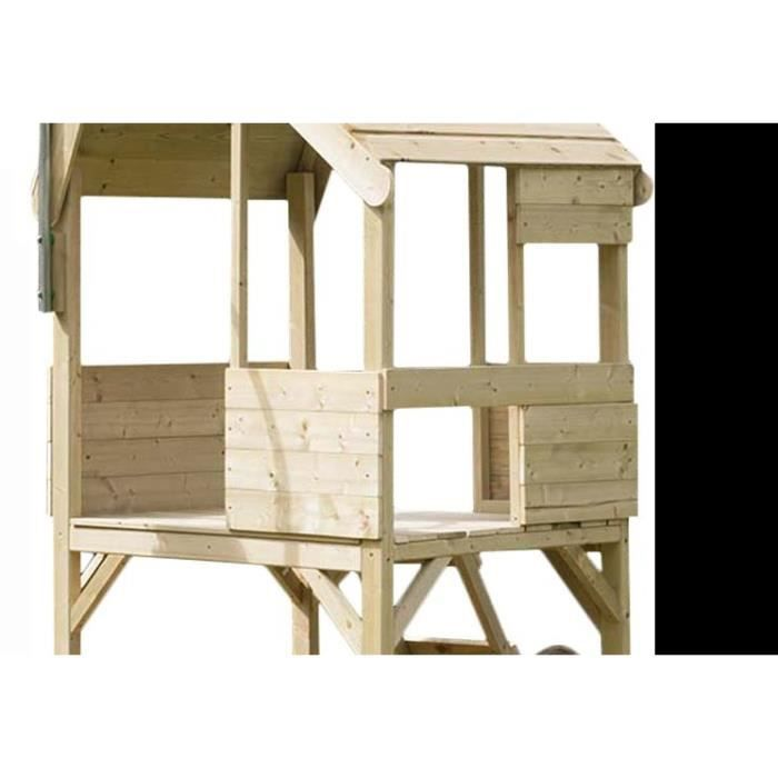 maisonnette enfant en bois sur pilotis achat vente. Black Bedroom Furniture Sets. Home Design Ideas