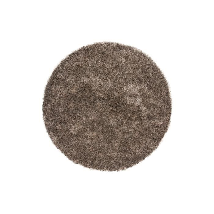 tapis shaggy uni taupe 35 mm 200x200 cm rond achat vente tapis cdiscount. Black Bedroom Furniture Sets. Home Design Ideas