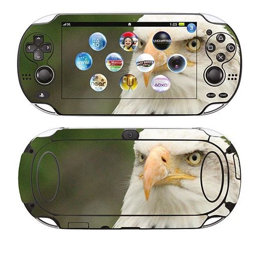 skin stickers pour sony ps vita sticker aigle achat vente sticker skin console. Black Bedroom Furniture Sets. Home Design Ideas
