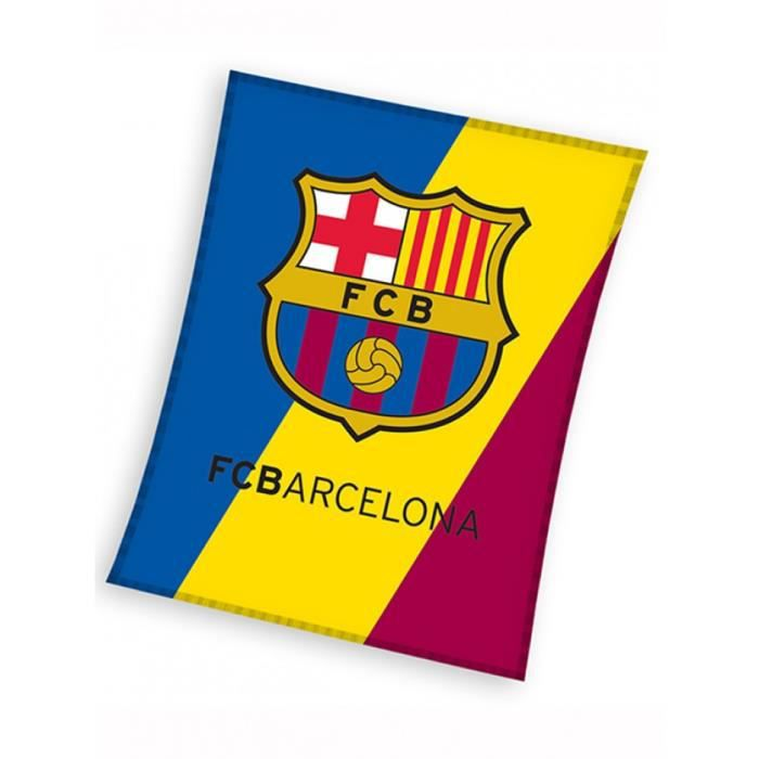 Couverture en laine polaire cusson fc barcelone achat for Couverture jetable en laine polaire ikea