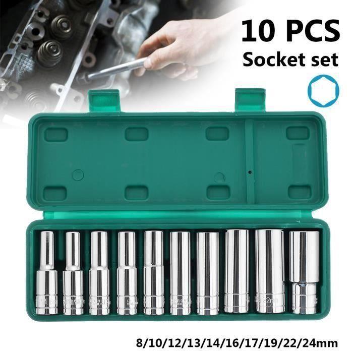 """1//2/"""" Lecteur Superficiel Métrique Hex//Clé Allen Bit Socket 4 mm 17 mm 9pcs Bergen"""