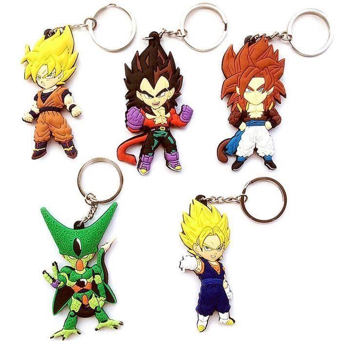 Anime Dragon Ball 2,7 cm 1 pouce en résine porte-clés porte-clés Chaud