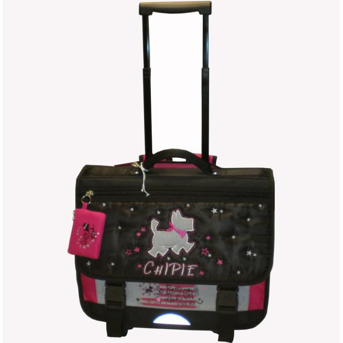 bagages cartable a roulettes chipie  cm f chi