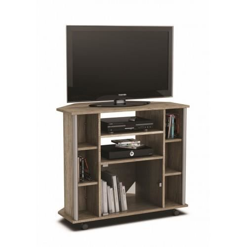 meuble tv d 39 angle score sur roulettes meubles bon prix moncornerdeco. Black Bedroom Furniture Sets. Home Design Ideas