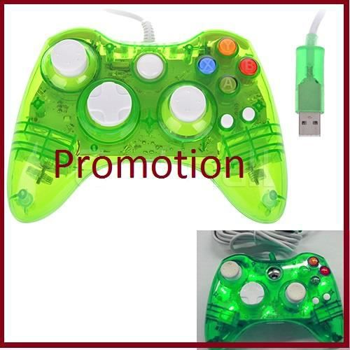 manette de jeu transparent led pour xbox 360 glowing contr leur filaire pour xbox 360 gr ce l. Black Bedroom Furniture Sets. Home Design Ideas