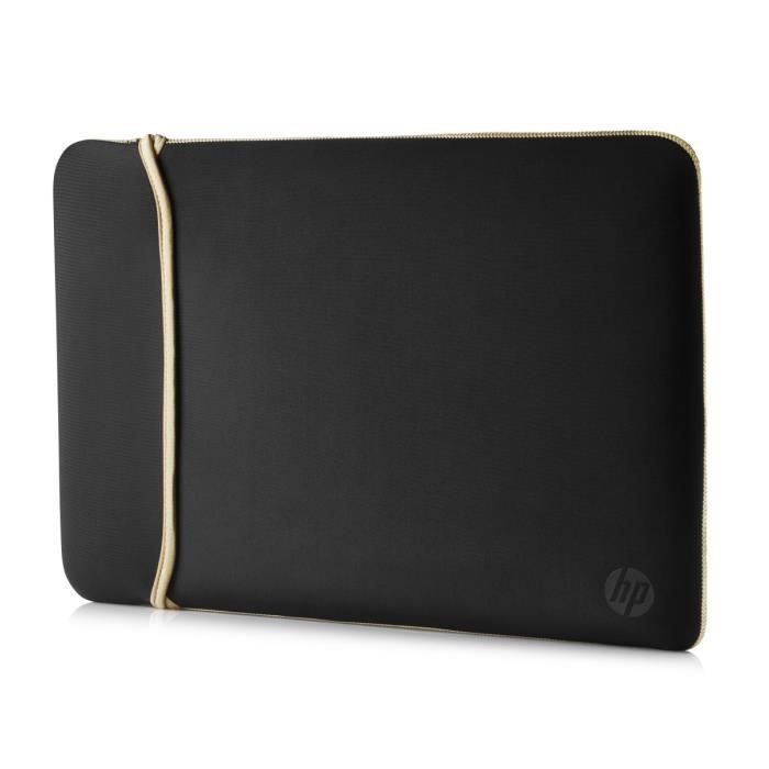 "SAC À DOS INFORMATIQUE HP 15.6"" Reversible Sleeve 2UF60AA – Black/Gold"