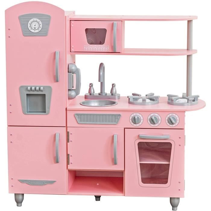 kidkraft cuisine enfant vintage rose achat vente dinette cuisine cdiscount. Black Bedroom Furniture Sets. Home Design Ideas