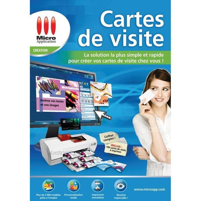 micro application carte de visite MICRO APPLICATION Cartes de visite   Prix pas cher   Cdiscount