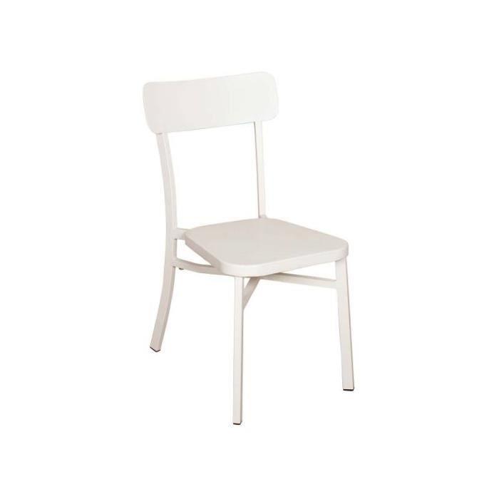 FAUTEUIL JARDIN  Chaise MICA - Couleur - Crème