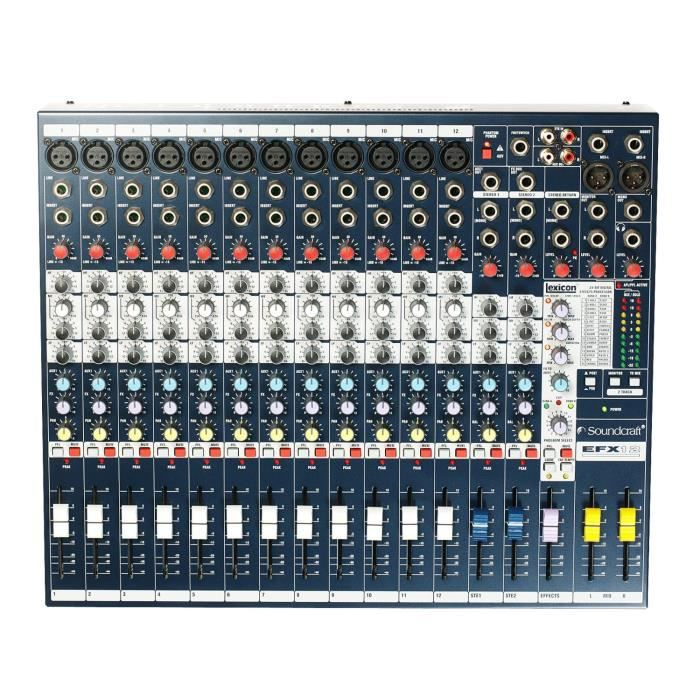 TABLE DE MIXAGE SOUNDCRAFT MIXER 12 canaux EFX12