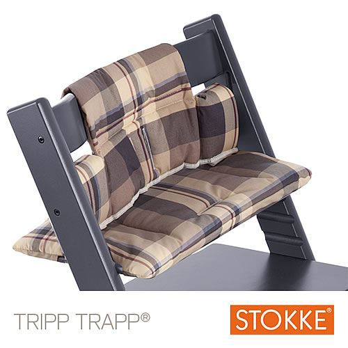 coussin stokke pour tripp trapp tartan blue achat vente chaise haute coussin stokke tripp. Black Bedroom Furniture Sets. Home Design Ideas