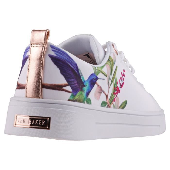 Ted Baker Ahfira Femmes Baskets Blanc Multicolore - 5 UK