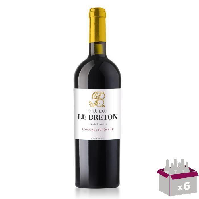 4 achetées + 2 offertes - Château Le Breton Cuvée Premium 2017 Bordeaux Supérieur - Vin rouge de Bordeaux