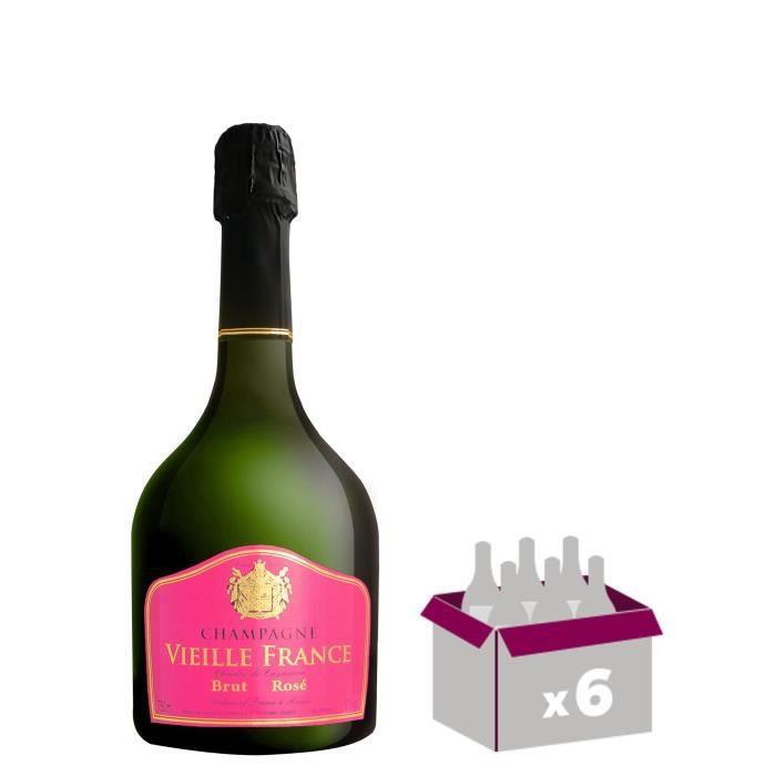 GH MARTEL Vieille France Champagne - Rosé - 75 cl x 6