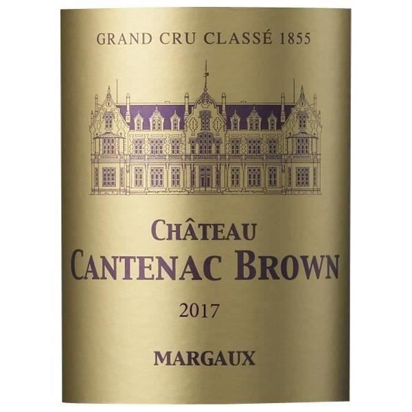Magnum Château Cantenac Brown 2017 Margaux - Vin rouge de Bordeaux