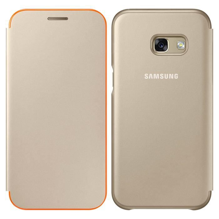 Samsung Neon Flip Cover A5 2017 - Or