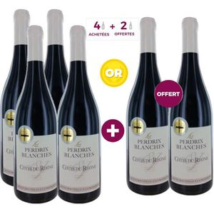 VIN ROUGE 4 ACHETEES + 2 OFFERTES - Les Perdrix Blanches 201