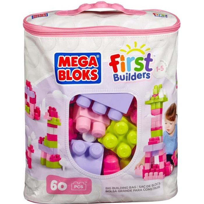 Megabloks first builders sac medium rose achat vente for Builders first