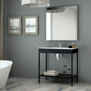 SALLE DE BAIN COMPLETE Meuble salle de bain noir 80 cm + vasque céramique