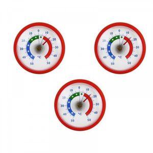 THERMOMÈTRE DE CUISINE ensemble 3 pièces bimétalliques thermomètre adhési