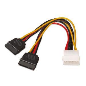 CÂBLE E-SATA AISENS A131-0161–Câble d'alimentation SATA (conn