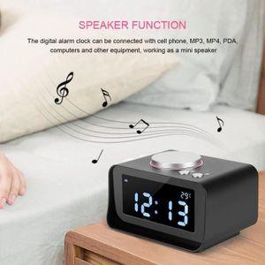 Radio réveil Radio Réveil numérique LCD de chargement USB doubl