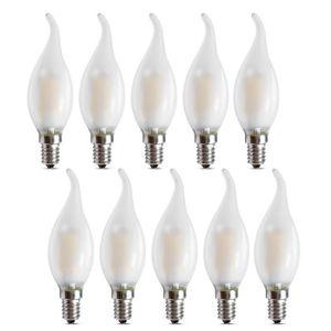 AMPOULE - LED Ampoule LED E14 à Filament Dimmable, Lot de 10 Amp