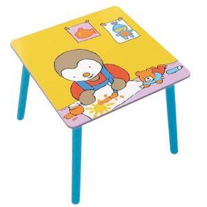 TABLE BÉBÉ Fun House T'choupi table carree pour enfant
